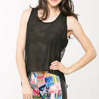 Abstract Triangle Chiffon Top