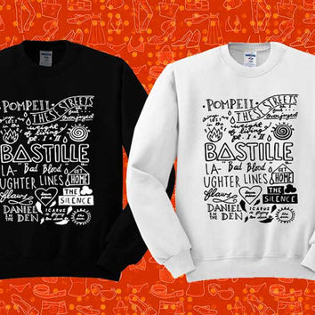 bastille collage Sweatshirt Crewneck Men or Women Unisex Size