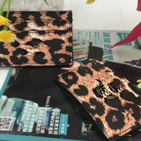 COACH gift-bag bank truck card collection bag leopard print bag