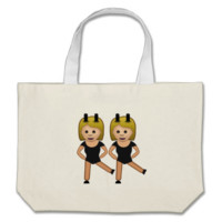 Woman With Bunny Ears Emoji Canvas Bag