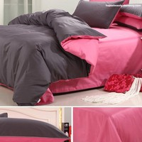 Full cotton satin drill four pieces bedding suite - BD0027 from House Beauty