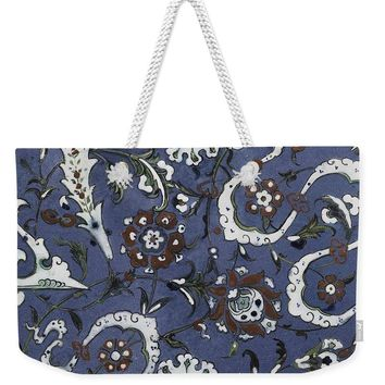 An Ottoman Iznik Style Floral Design Pottery Polychrome, By Adam Asar, No 15d - Weekender Tote Bag