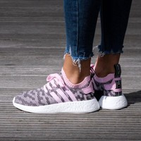 Best Online Sale Adidas NMD R2 PK W Wonder Pink / Core Black Boost Sport Running Shoes Classic Casual Shoes Sneakers