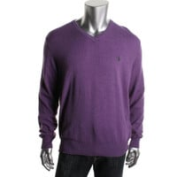 Polo Ralph Lauren Mens Merino Wool Heathered Sweater