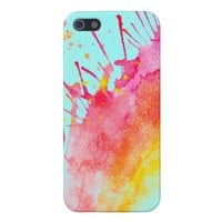 Rainbow Splatter iPhone 5 Case. from Zazzle.com
