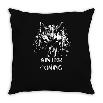 game of thrones direwolf winter is coming Throw Pillow