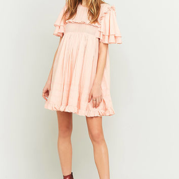 Manoush Pink Ruffle Babydoll Dress | Urban Outfitters