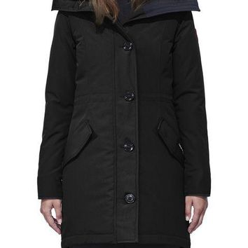 Canada goose winter WOMEN Long down jacket /black