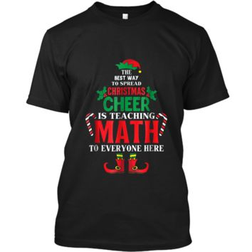 Christmas Cheer Is Teaching Math To Everyone Here Elf  Custom Ultra Cotton