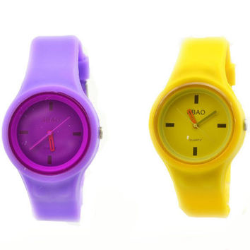 Awesome Trendy Designer's Good Price Gift Great Deal New Arrival 6-color Silicone Stylish Watch [8863748551]