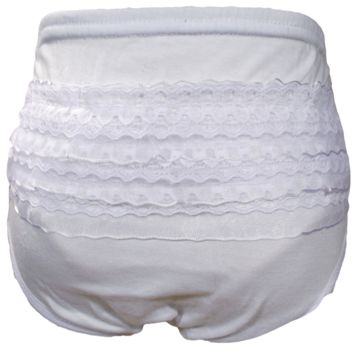 Lace Bottom Cotton Blend Bloomers Diaper Cover Baby Girls 0-12M