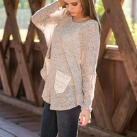 Just What You Need Top, Taupe