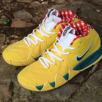 2018 The New  Nike Kyrie Irving 4 Yellow /Green / Red   Basketball Sneaker