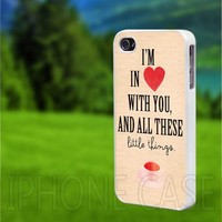 10185 One Direction Little Things - iPhone 4/4s Case