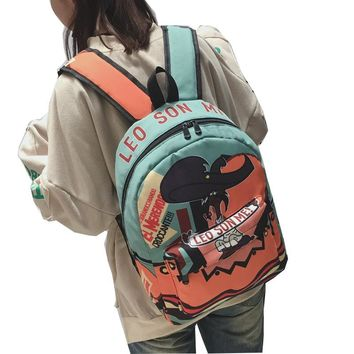 2017 Hit Color Graffiti Luggage  Backpacks Canvas Print School Backpack Bags For Teenager Backpack Men Children Laptop Backpack