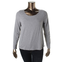 Lauren Active Womens Heathered Stretch Casual Top
