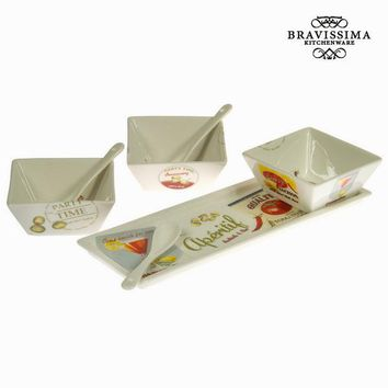 Set of 3 bowls with tray - Kitchen's Deco Collection by Bravissima Kitchen