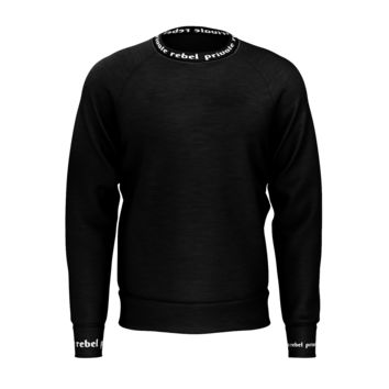 PRIVATE REBEL Logo Men's French Terry Crew