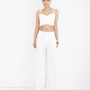 STELLA LINEN PLEATED TROUSER SET
