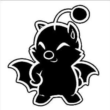 Final Fantasy Moogle  Vinyl Car/Laptop/Window/Wall Decal