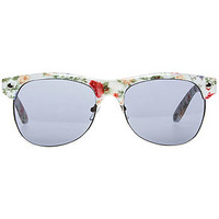 The Shredder Sunglasses in White Floral