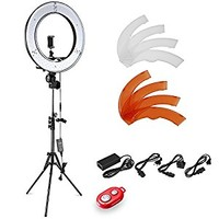 """Neewer 14""""/36cm Outer LED Ring Light Kit with Light Stand +Soft Tube+2 Color Filter, +Hot Shoe Adapter+Bluetooth Receiver for Smartphone, Portrait, Youtube Video Shooting,Selfie Light 36W 5500K"""