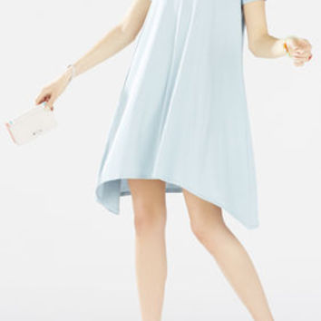 Franchesca Cutout Handkerchief Hem Dress - Seafrost