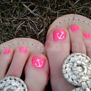 Assortment of Anchor Toenail Decals in Color of choice 20 total