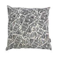 Lines in Black Throw Cushion