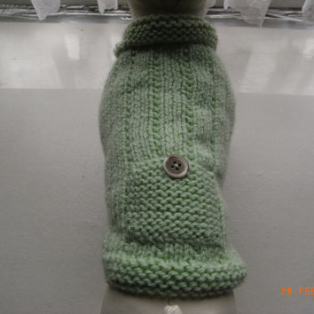 "xxs dog sweater hand knit xs 9.5"" teacup, puppy, chihuahua etc.xs dog sweater, small dog coat, xs dog clothing"