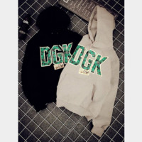 DGK letters male and female lovers leisure loafers sweater