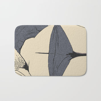 Mature art, sexy booty view, sleeping girl in kinky lingerie, erotic nude, naughty posing Bath Mat by Casemiro Arts - Peter Reiss