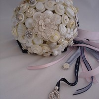 The Beach Wedding Button Bouquet and by LillybudsBouquets on Etsy