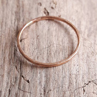 Delicate Rose Gold Ring - Rose Gold Fill Ring - 1mm Rose Gold Stack Ring - Stackable Rings - Minimalist Ring - Thin Gold Ring - Gold Band