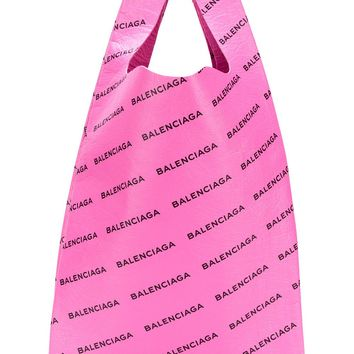 Pink Leather Supermarket Bag by Balenciaga