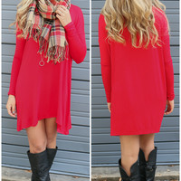 Becoming Royalty Red Long Sleeve Dress
