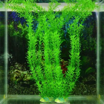 2016 High Quality Submarine Artificial Green Plant Grass for Fish Tank Aquarium Decor Decoration