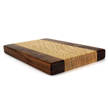 The Ace Wood Cutting Board in Walnut & Oak by Helmwood