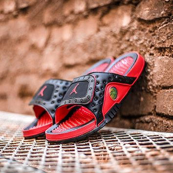 Air Jordan Hydro 13 Sandals - Black/Red