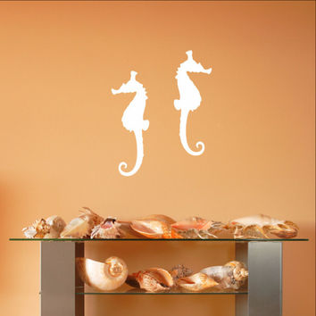 Seahorse Style B Set of 2 Vinyl Wall Decals 22560