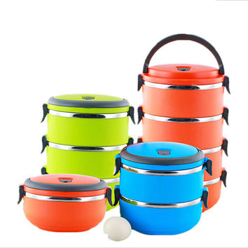 Stainless steel multi-layer lunch