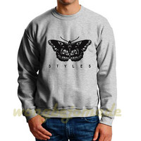 Harry Styles Sweatshirt Styles Tattoo Grey and White Color Unisex Sweatshirts