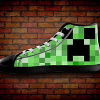 minecraft creeper shoes for women, size 5, 6, 7, 8, 9,10 US