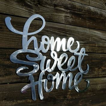 Rustic Home Decor, Rustic Wall Art, Metal Wall Art, Farm House Decor, Home Sweet Home, Metal Initial, Wall Hangings, Custom Wall Art, Rustic