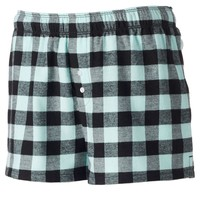 SO Pajamas: Varsity Flannel Lounge Shorts