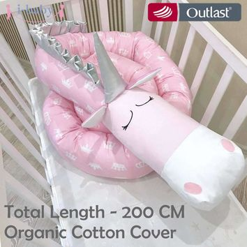 i-baby Unicorn Baby Bumper Baby Bedding Crib Bumpers Cot Bumper Newborn Cotton Printed Crib Protector for Infant