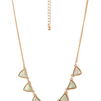 FOREVER 21 Spiked Iridescent Chain Necklace Gold/Multi One