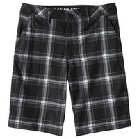 "Mossimo Supply Co Men's 10"" Hybrid Swim Shorts - Black Plaid"