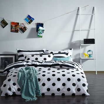 2017 New Product 100% Cotton Black & White Bedding Sets Duvet Cover Sets  Luxury Bed Linens Flat Sheet pillowcases