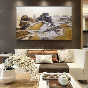 Original Art mountain Oil paintings on canvas Abstract painting extra large wall pictures modern heavy texture wall art cuadros abstractos